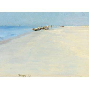 - Tableau -Pêcheurs sur la plage de Skagen- - Kroyer, Peder Severin