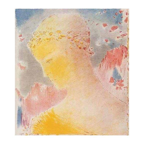 pinturas do retrato - Quadro -Mujer dorada-