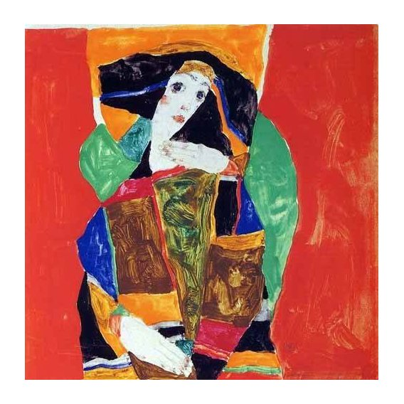 pinturas do retrato - Quadro -Retrato de mujer-