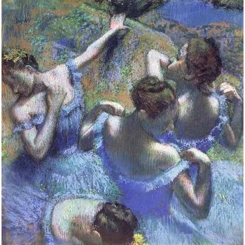 pinturas do retrato - Quadro -Blue Dancers-