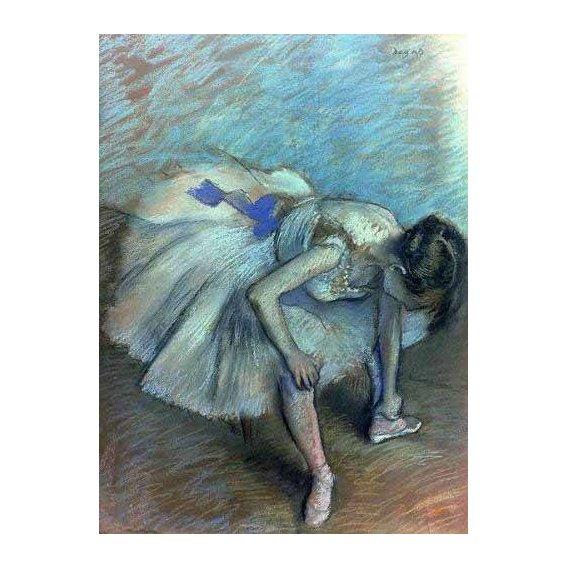 pinturas do retrato - Quadro -Bailarina sentada-