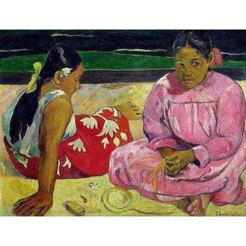Tableau -Mujeres de Tahití en la playa-