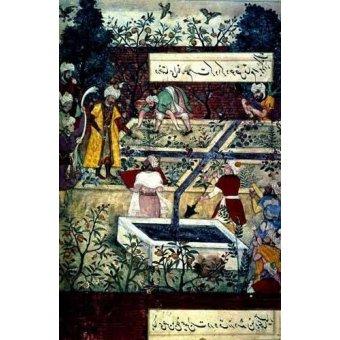 Tableaux orientales - Tableau -Memorias de Babur, Emperador con su proyecto- - Mughal