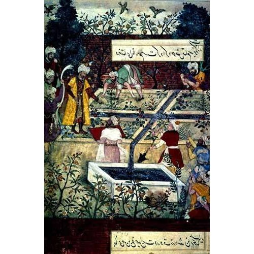 Tableau -Memorias de Babur, Emperador con su proyecto-