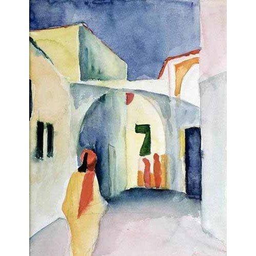 pinturas do retrato - Quadro -A Glance Down an Alley-