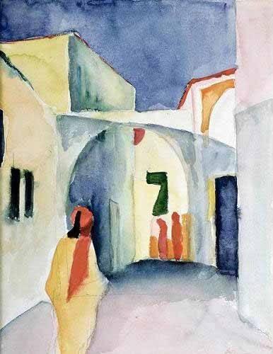 tableaux-de-personnages - Tableau -A Glance Down an Alley- - Macke, August