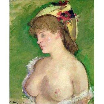 Tableaux de Nus - Tableau -La blonde aux seins nus- - Manet, Eduard