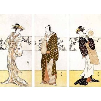 Tableaux orientales - Tableau -Actores japoneses- - Sunko, Kaisukawa