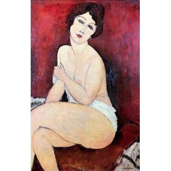Tableau -Large Seated Nude-