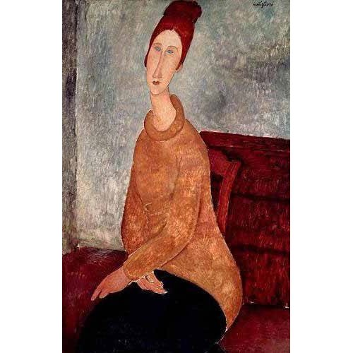Tableau -Jeanne Hebuterne in a Yellow Jumper-