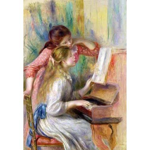 Tableau -Jeunes filles au piano-