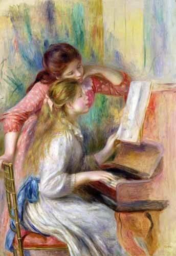 tableaux-de-personnages - Tableau -Jeunes filles au piano- - Renoir, Pierre Auguste