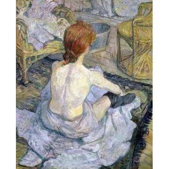 Tableau -Mujer en su baño-