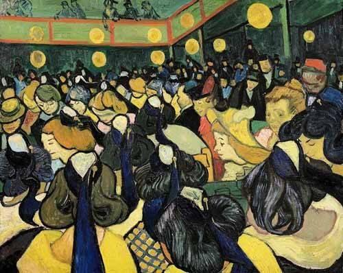tableaux-de-personnages - Tableau -La salle de danse à Arles- - Van Gogh, Vincent