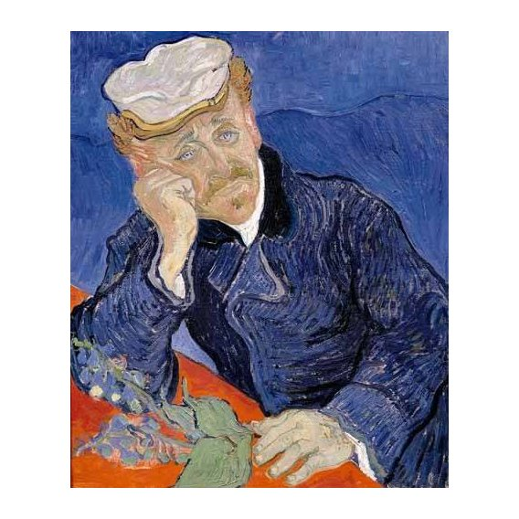 pinturas do retrato - Quadro -Doctor Paul Gachet-