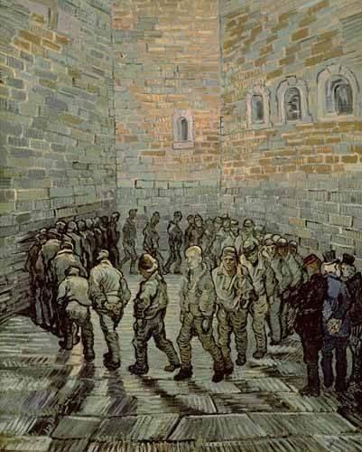 tableaux-de-personnages - Tableau -La cour d'exercice- - Van Gogh, Vincent