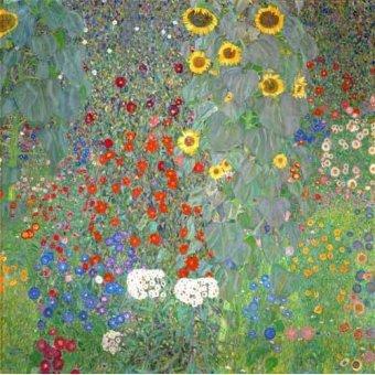 Tableaux de Fleurs - Tableau - Jardin de campagne avec tournesols- - Klimt, Gustav