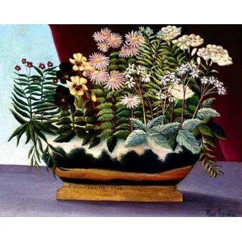 Tableaux de Fleurs - Tableau - Fleurs de poète, 1890 - - Rousseau, Henri