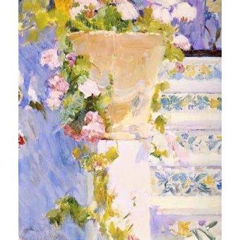 Tableaux de Fleurs - Tableau -Jardin de la maison de l'artiste X- - Sorolla, Joaquin