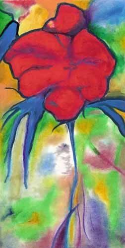 tableaux-de-fleurs - Tableau -Coquelicot- - Molsan, E.