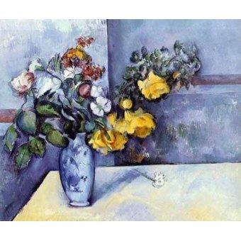 Tableaux de Fleurs - Tableau -Fleurs dans un vase- - Cezanne, Paul