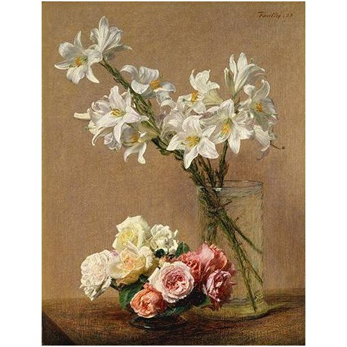 Tableau -Rosas y Lilas-