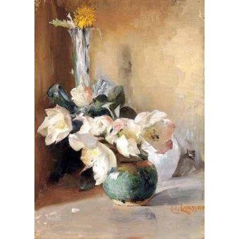 Tableaux de Fleurs - Tableau -Rosas de Navidad- - Larsson, Carl