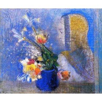 Tableaux de Fleurs - Tableau -Meditation- - Redon, Odilon