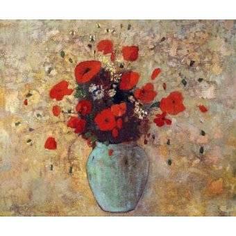 Tableaux de Fleurs - Tableau - Vase aux coquelicots - - Redon, Odilon