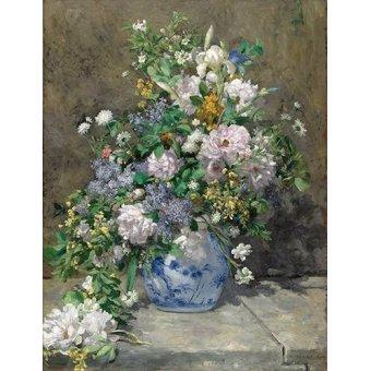 Tableaux de Fleurs - Tableau -Bouquet de printemps- - Renoir, Pierre Auguste