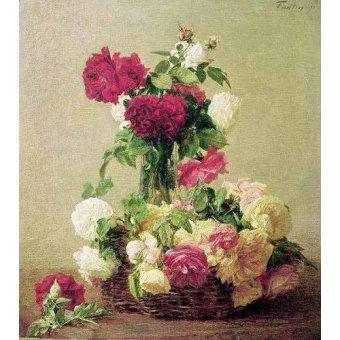 Tableaux de Fleurs - Tableau -Rosas- - Fantin Latour, Henri
