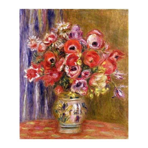 imagens de flores - Quadro -Jarrón de tulipanes y anémonas-