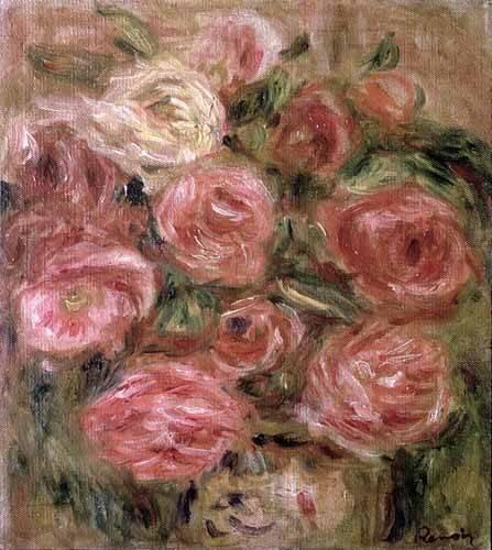 tableaux-de-fleurs - Tableau -Des fleurs- - Renoir, Pierre Auguste