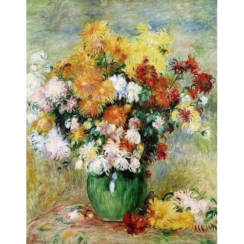 Tableau -Bouquet chrysanthèmes-