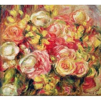 Tableaux de Fleurs - Tableau -Roses 1915- - Renoir, Pierre Auguste