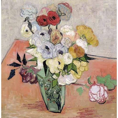 Tableau -Roses et Anémones-