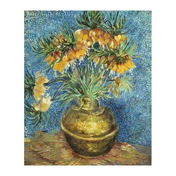 imagens de flores - Quadro -Corona Imperial de Fritilárias en jarrón de cobre-