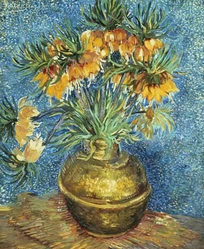 tableaux-de-fleurs - Tableau -Fritillaires, couronne impériale dans un vase de cuivre- - Van Gogh, Vincent