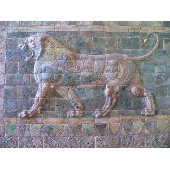 Tableaux photographie - Tableau -Friso de un león del palacio de Darius I- - _Anónimo Persa