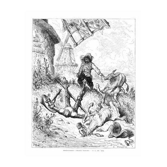imagens de mapas, gravuras e aquarelas - Quadro -El Quijote 1-50-