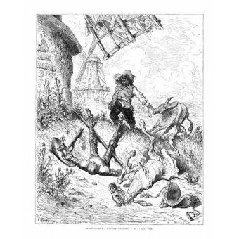Tableaux cartes du monde, dessins - Tableau -El Quijote 1-50- - Doré, Gustave