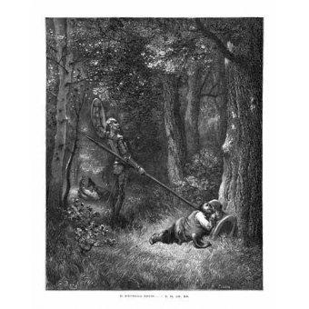 Tableaux cartes du monde, dessins - Tableau -El Quijote 2-132- - Doré, Gustave