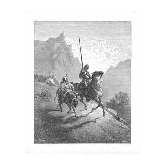 imagens de mapas, gravuras e aquarelas - Quadro -El Quijote 0-0-