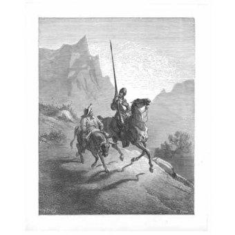 Tableaux cartes du monde, dessins - Tableau -El Quijote 0-0- - Doré, Gustave