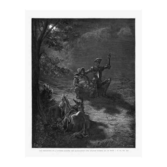 imagens de mapas, gravuras e aquarelas - Quadro -El Quijote 2-76-