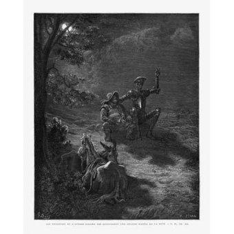 Tableaux cartes du monde, dessins - Tableau -El Quijote 2-76- - Doré, Gustave