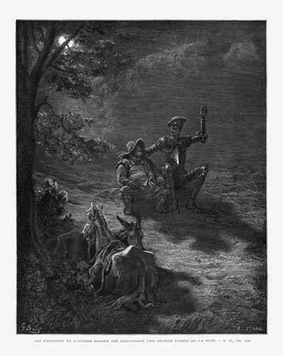 tableaux-cartes-du-monde-dessins - Tableau -El Quijote 2-76- - Doré, Gustave