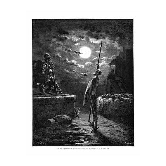 imagens de mapas, gravuras e aquarelas - Quadro -El Quijote 1-22-