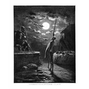 Tableaux cartes du monde, dessins - Tableau -El Quijote 1-22- - Doré, Gustave