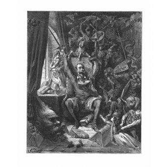 Tableaux cartes du monde, dessins - Tableau -El Quijote- - Doré, Gustave